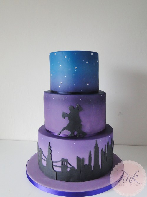 new-york-dancing-stars-purple-wedding-cake